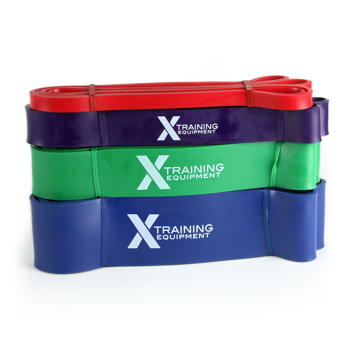 Strength Bands Set Includes Red, Purple, Green, & Blue Bands