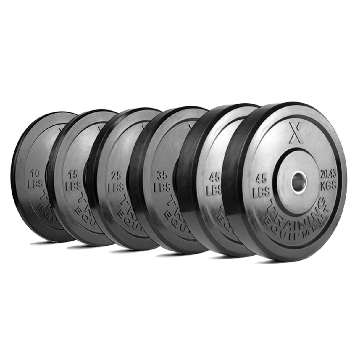 Premium Black Bumper Plates and Sets