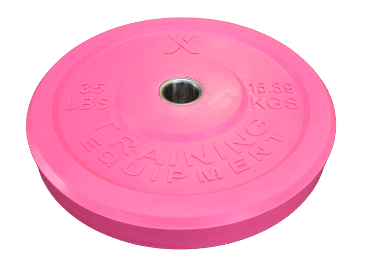 X Training Equipment® 35LB Premium Pink Bumper Plate Pair