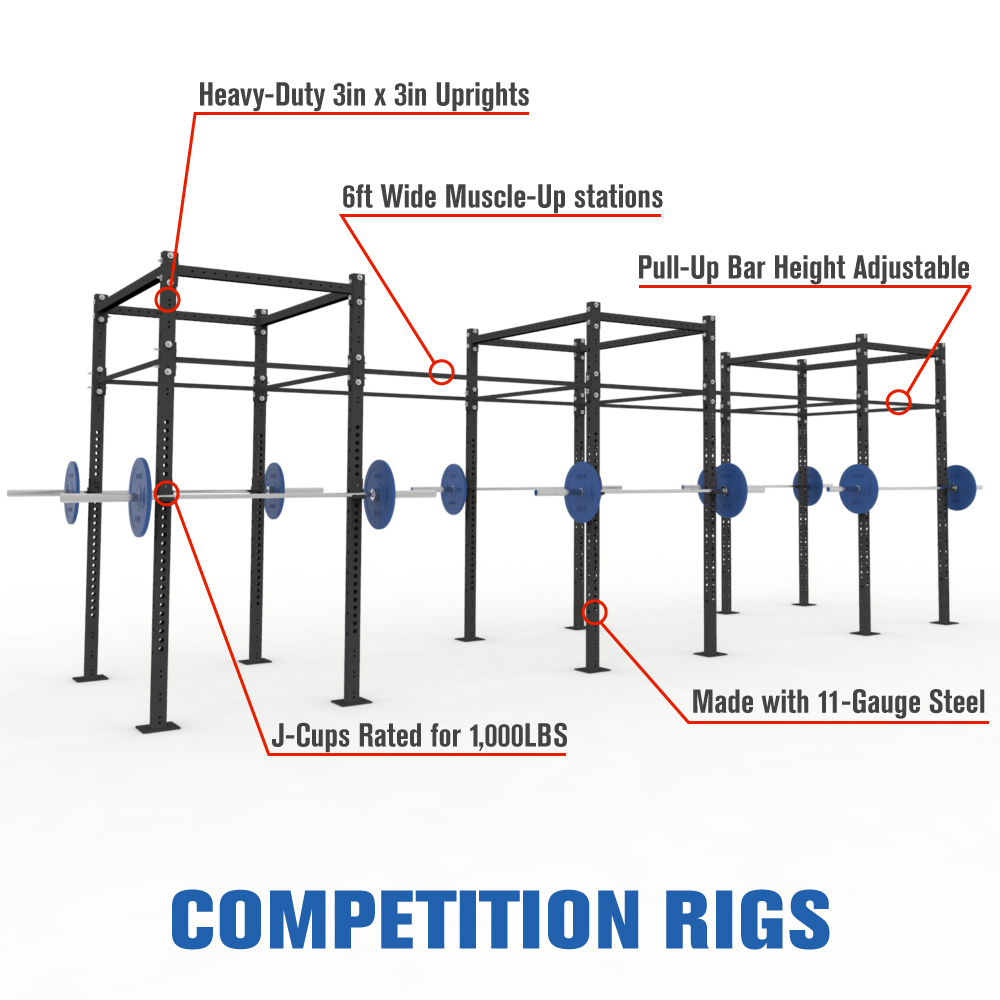 Competition Pull-Up Rig Features