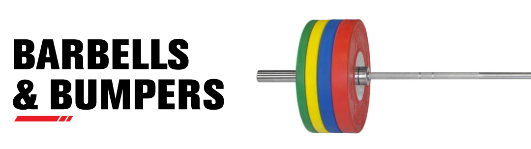 Barbells and Bumper Plates for Weightlifting