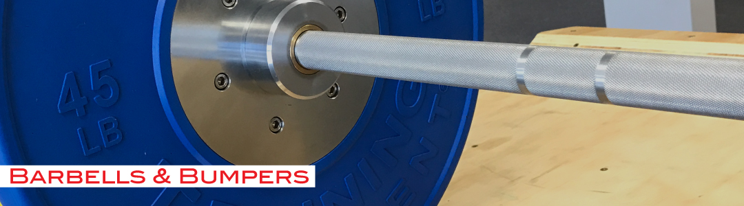 barbell and bumpers for crossfit