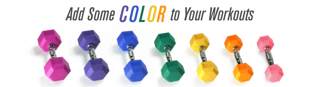 Colored Hex Dumbbells