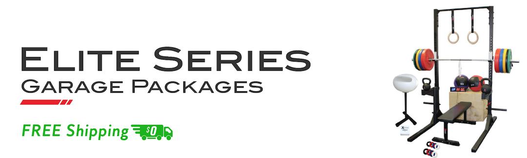 Garage gym packages squat rack pullup bar bumper set