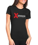 X Training Equipment Women's Logo Black T-Shirt - Free Shipping