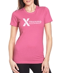 X Training Equipment Women's Logo Hot Pink T-Shirt - Free Shipping