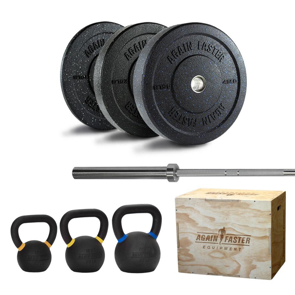 160LB Crumb Set + Barbell + KB Set + Plyobox