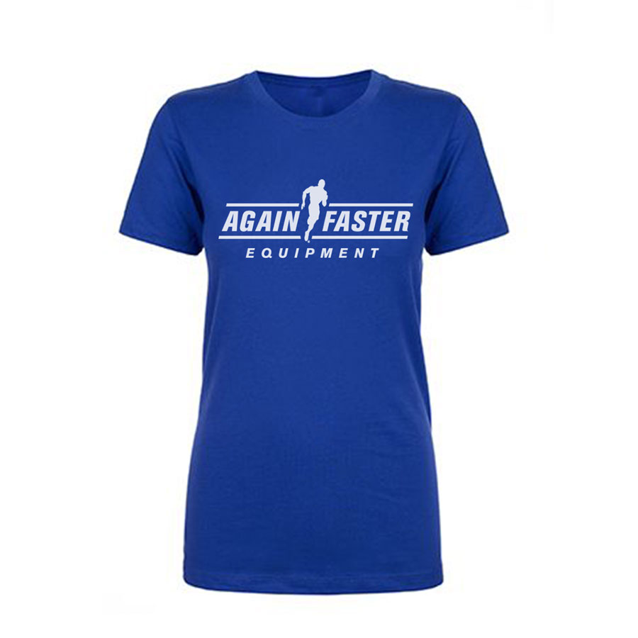 Womens - Again Faster Logo - Royal Blue - Premium T-Shirt