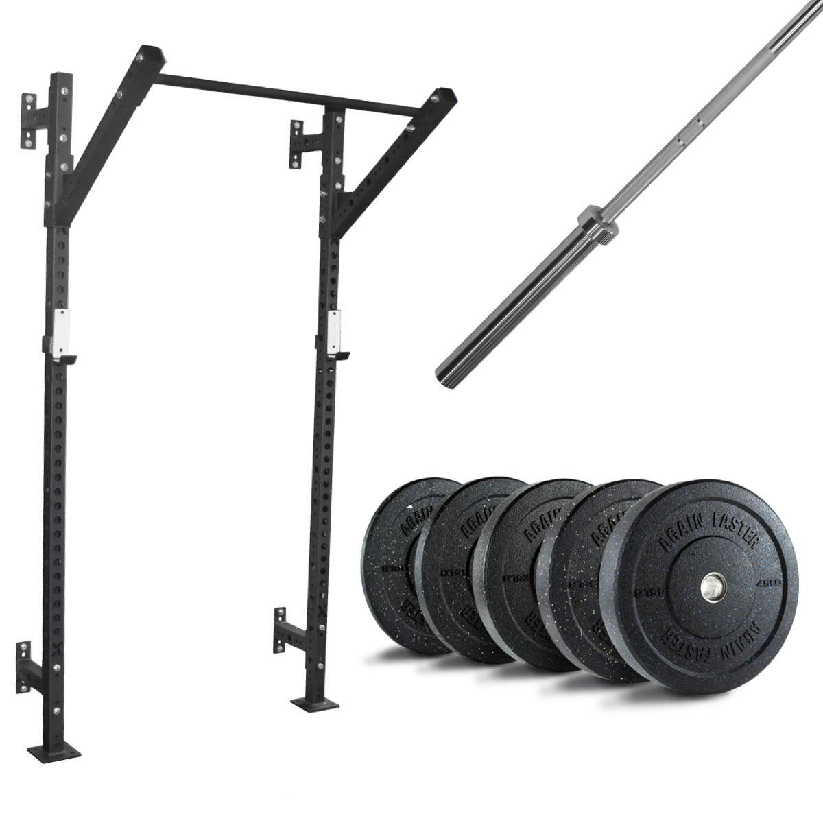 XSR Slim Rig + Barbell + 260lb Crumb Bumper Set - Currently Out of Stock