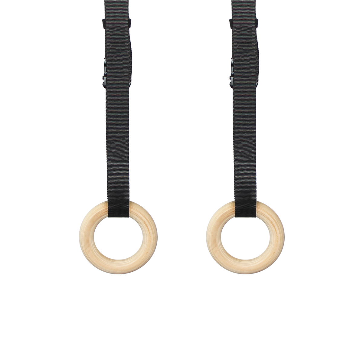 Kids Wooden Gymnastic Rings with Adjustable Straps
