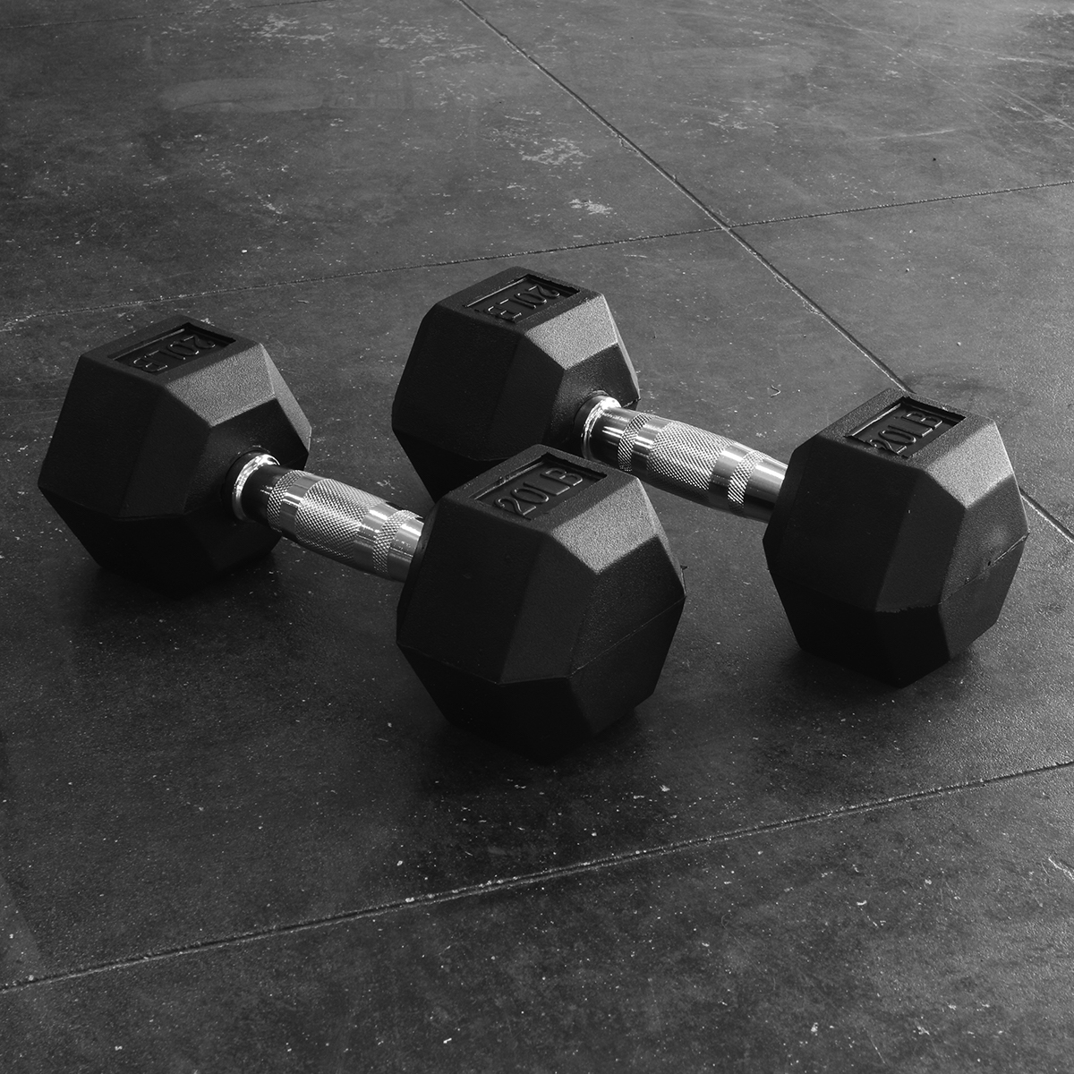 Rubber Hex Dumbbell Singles