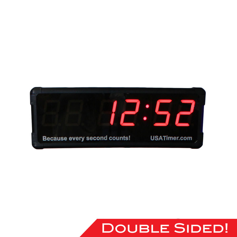 USA Timer Pro Double-Sided Wall Timer - Programmable Fitness Timer - Currently Out of Stock