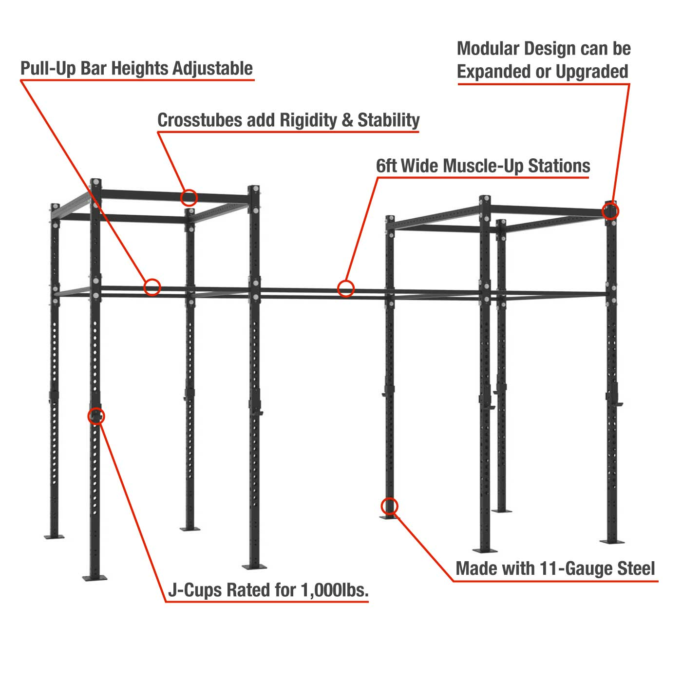 Freestanding Pull-up Rigs