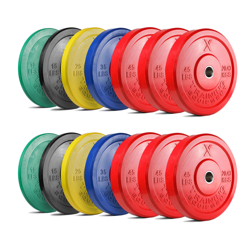 X Training Equipment® 1000LB Premium Color Bumper Set