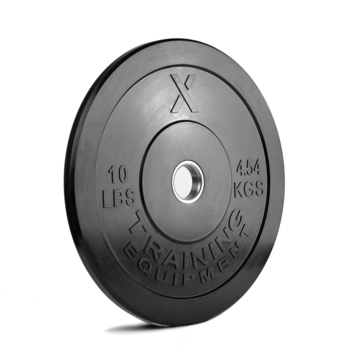 X Training Equipment® 10LB Premium Black Bumper Plate Pair