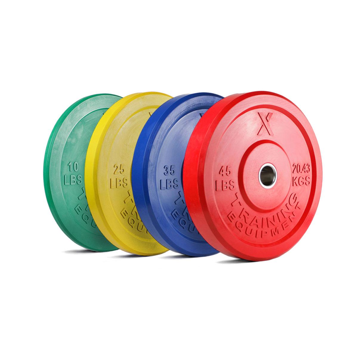 X Training Equipment® 230LB Premium Color Bumper Set