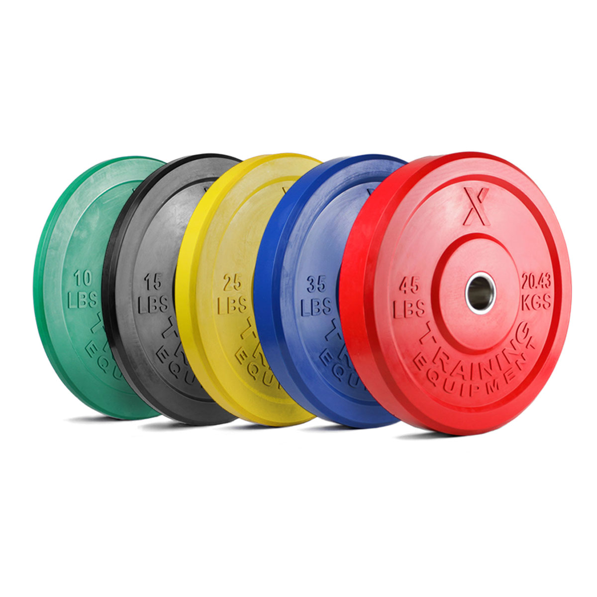 X Training Equipment® 260LB Premium Color Bumper Set