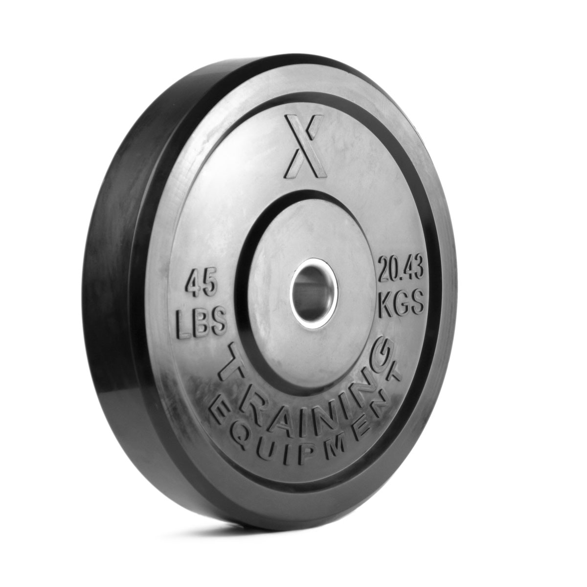 45LB Premium Black Bumper Plate Pair - Out of Stock