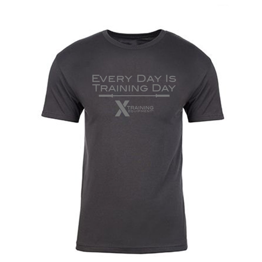 Mens - Everyday is Training Day - Heavy Metal - Premium Fitted T-Shirt