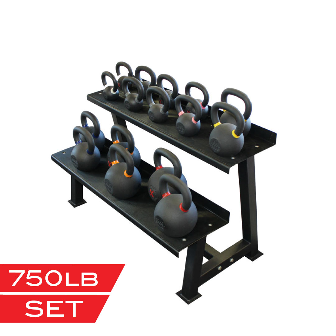 X Training Equipment® 750lb Premium Kettlebell Set - $1.10/pound