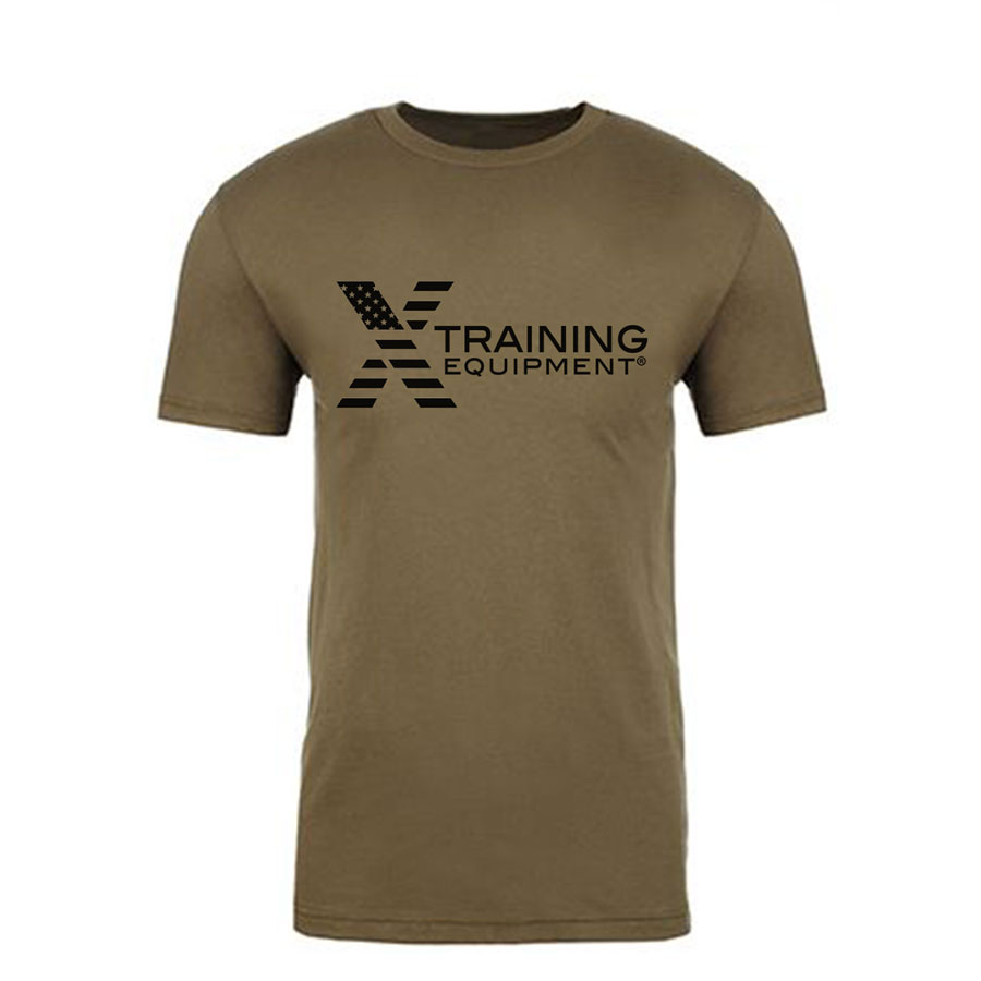 Mens - X Training Flag Logo - OD Green - Premium Fitted T-Shirt