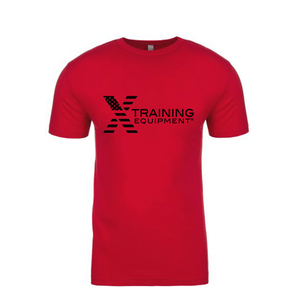 Mens - X Training Flag Logo - Red - Premium Fitted T-Shirt