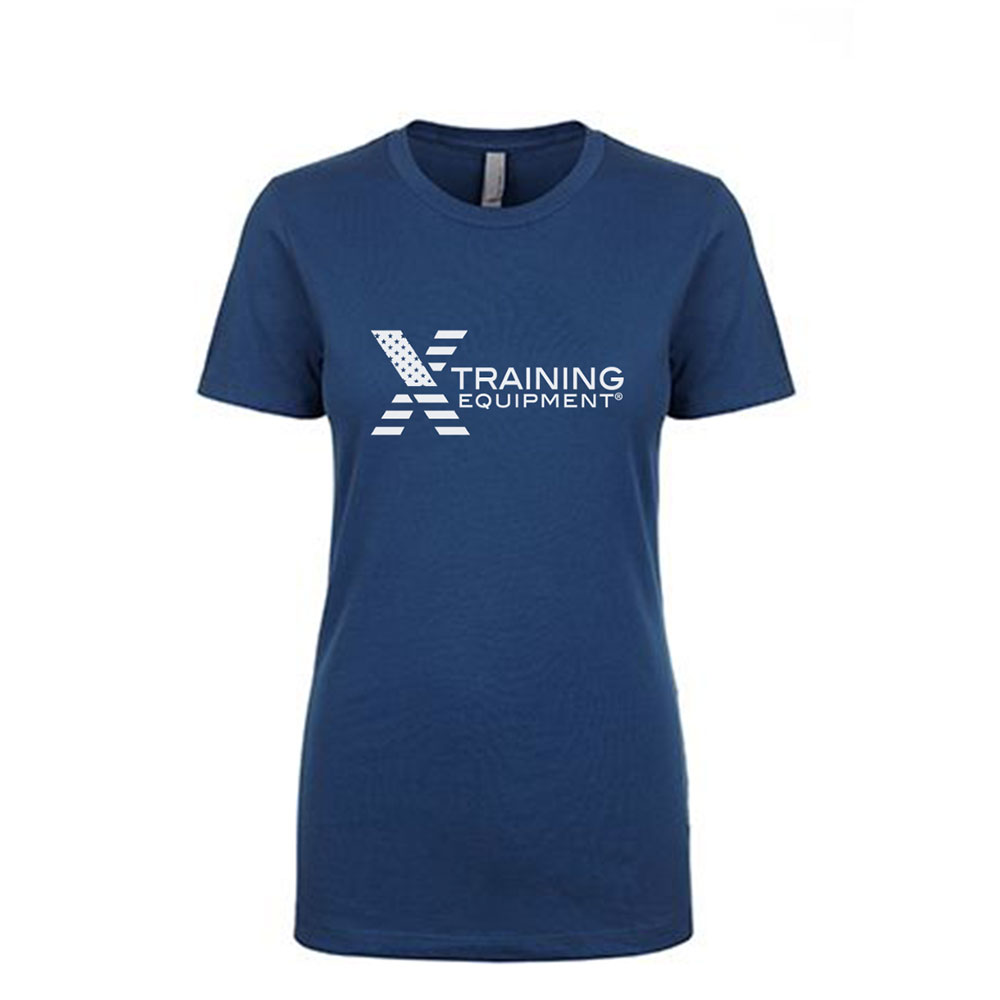Womens - X Training Flag Logo - Cool Blue - Premium T-Shirt
