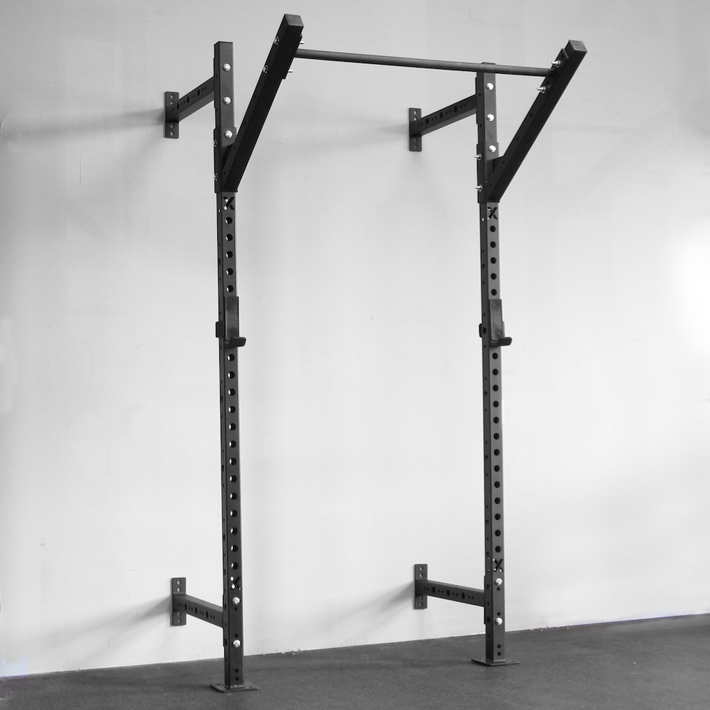 Xsr slim wall mounted pull up rig squat rack training