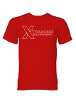X Training Equipment Mens Red Logo T-Shirt - Free Shipping