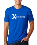 X Training Equipment Mens Royal Blue Logo T-Shirt - Free Shipping