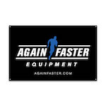 Again Faster Logo Banner 2.5ft x 4ft - Black