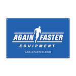Again Faster Logo Banner 2.5ft x 4ft - Blue