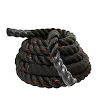 Black Poly Fitness Rope - 30FT x 1.5