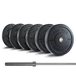 350LB Crumb Bumper Set + Barbell  - Out of Stock
