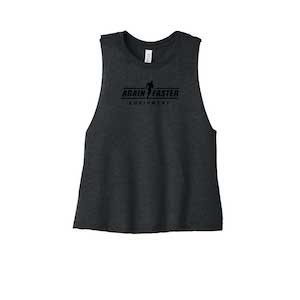 Womens - Logo - Gray - Premium Blend Crop Tank