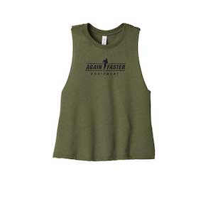 Womens - Logo - Olive - Premium Blend Crop Tank - Pre-Order - Ships 11/25
