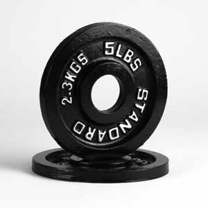 Black Steel Plates 5lb Pair - Out of Stock