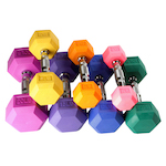 Hex Color Dumbbell Set - Singles - 3lb 5lb 8lb 10lb 12lb 15lb 20lb