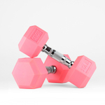Pink Rubber Dumbbell Pairs