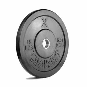 15LB Premium Black Bumper Plate Pair - Out of Stock