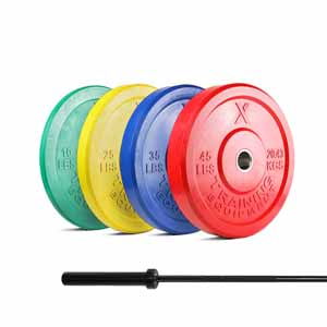 X Training Equipment® 230LB Premium Color Bumper Set & Elite Competition Bar - Pre-Order - Ships 3/28