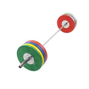 320LB Elite Competition Bumper Set + Elite Bearing Bar - Out of Stock