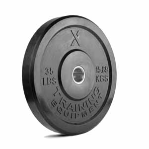 35LB Premium Black Bumper Plate Pair - Out of Stock