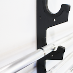 Gun Rack - 6 Barbell Horizontal Wall Mount