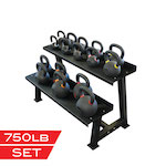 X Training Equipment® 750lb Premium Kettlebell Set - $1/pound