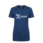 Womens - Flag Logo - Cool Blue - Premium T-Shirt