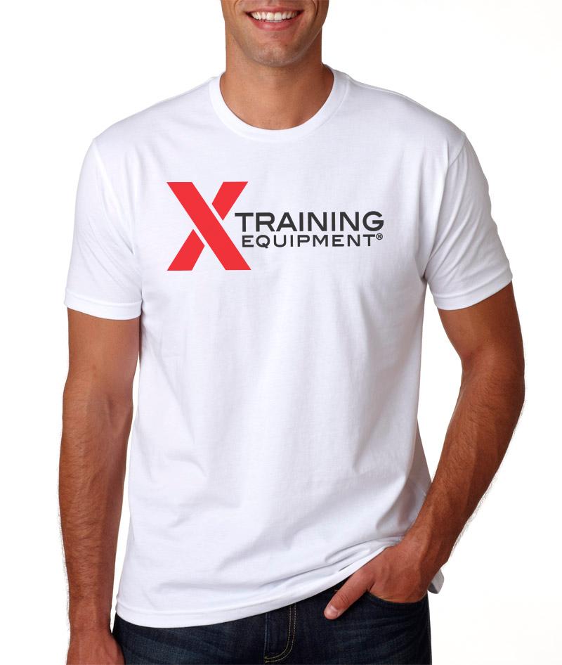 X Training Equipment Mens White Logo T-Shirt - Small