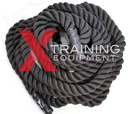 Black Poly Fitness Ropes - 50FT x 1.5