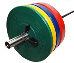 X Training Equipment 230LB Premium Color Bumper Set & Bar Special Free Shipping