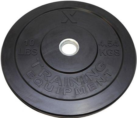X Training Equipment® 10LB Premium Black Bumper Plate Pair